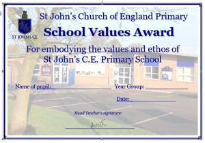 Values certificate
